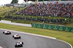 Will Stevens (Manor-Marussia), Alexander Rossi (Manor-Marussia) und Daniel Ricciardo (Red Bull)