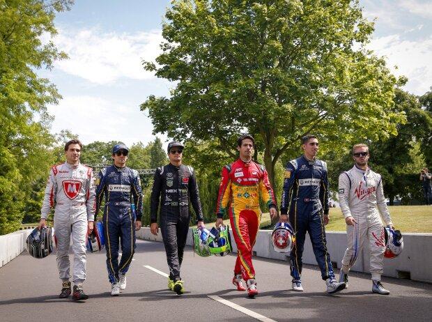 Jerome D'Ambrosio, Nelson Piquet Jun., Nicolas Prost, Lucas di Grassi, Sebastien Buemi, Sam Bird