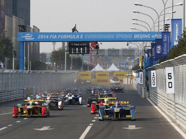 Start zum Formel-E-Saisonauftakt in Peking