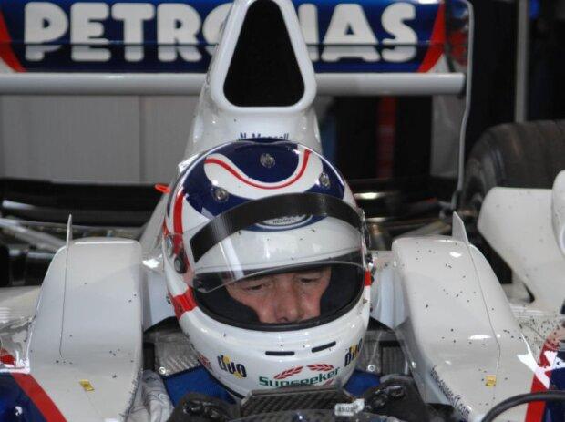 Nigel Mansell im BMW-Sauber F1.06