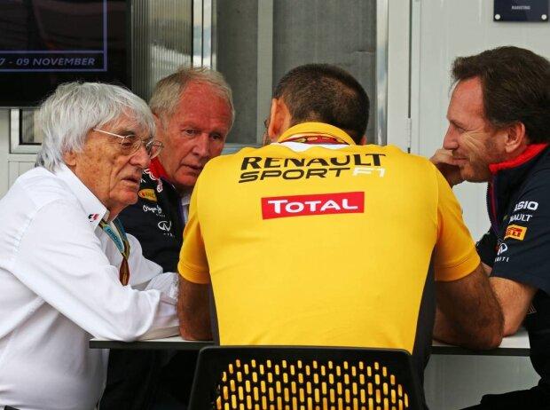 Bernie Ecclestone, Helmut Marko, Cyril Abiteboul, Christian Horner