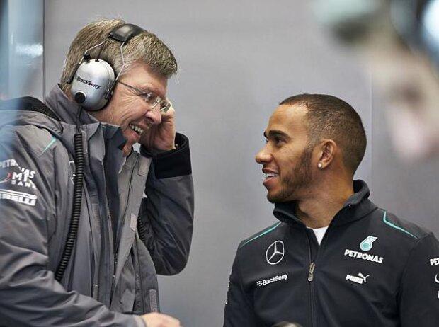 Lewis Hamilton, Ross Brawn (Teamchef)