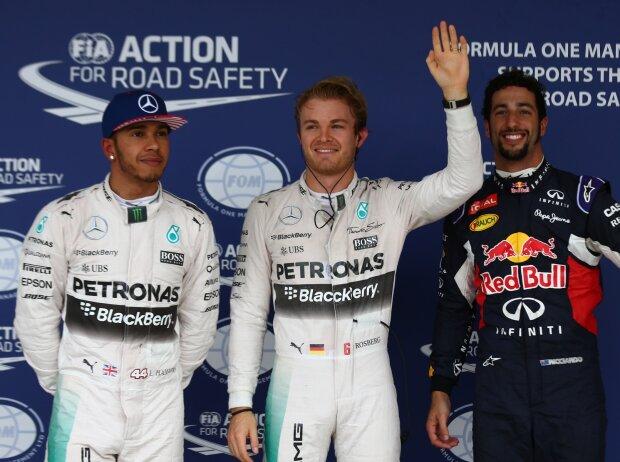Nico Rosberg, Lewis Hamilton, Daniel Ricciardo