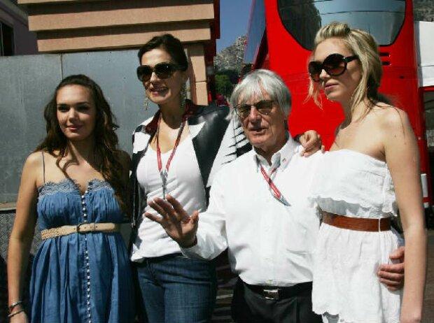 Tamara, Slavica, Bernie und Petra Ecclestone