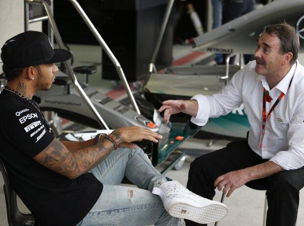 Lewis Hamilton, Nigel Mansell