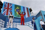 Lucas di Grassi (Abt), Sam Bird (DS Virgin) und Robin Frijns (Andretti)