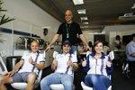 Felipe Massa (Williams), Valtteri Bottas (Williams) und Claire Williams