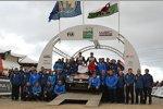 Das Siegerpodium in Wales
