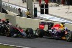 Daniel Ricciardo (Red Bull) und Jenson Button (McLaren)