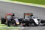 Sergio Perez (Force India) und Max Verstappen (Toro Rosso)