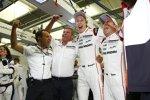 Alexander Hitziger, Fritz Enzinger, Brendon Hartley und Timo Bernhard (Porsche)
