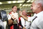 Dr. Oliver Blume, Dr. Wolfgang Porsche und Matthias Mueller (Porsche)