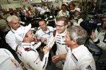 Timo Bernhard, Alexander Hitziger, Andreas Seidl und Fritz Enzinger (Porsche)