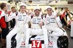 Brendon Hartley, Mark Webber und Timo Bernhard (Porsche)