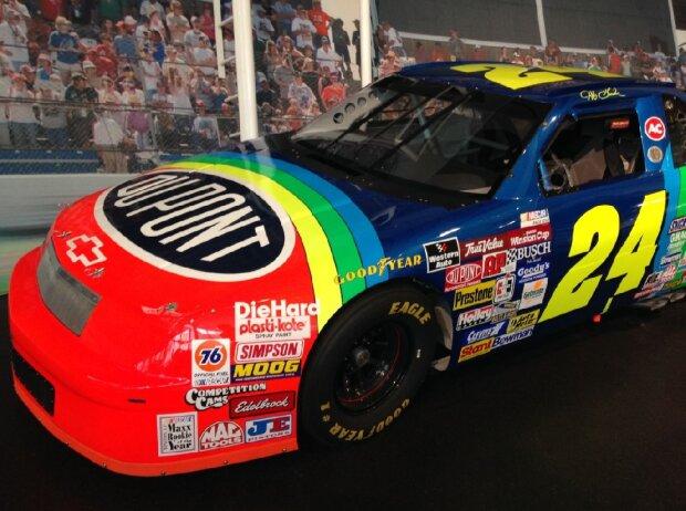 Chevrolet Lumina von Jeff Gordon in der NASCAR Hall of Fame in Charlotte