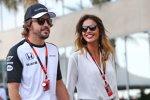 Fernando Alonso (McLaren) und Lara Alvarez