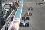 Valtteri Bottas (Williams), Max Verstappen (Toro Rosso) und Sebastian Vettel (Ferrari)