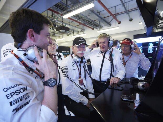 Toto Wolff, Dieter Zetsche, Thomas Weber, Niki Lauda