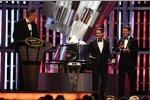 NASCAR-Chef Brian France, Jeff Gordon und Tom Cruise