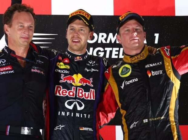 Sebastian Vettel, Fernando Alonso, Kimi Räikkönen