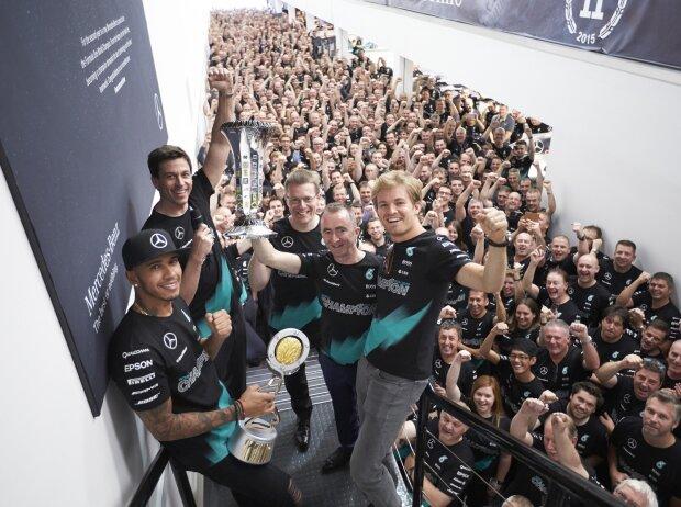 Lewis Hamilton, Nico Rosberg, Toto Wolff