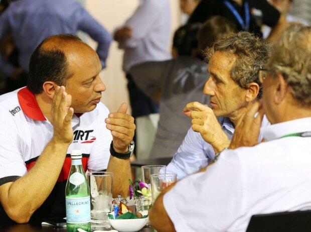 Frederic Vasseur und Alain Prost