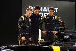 Kevin Magnussen (Renault), Esteban Ocon (Renault) und Jolyon Palmer (Renault)