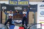Sebastien Ogier (Volkswagen) und Julien Ingrassia