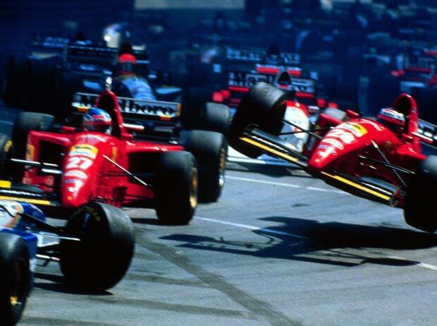 Gerhard Berger, Jean Alesi, David Coulthard