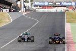 Lewis Hamilton (Mercedes) und Max Verstappen (Toro Rosso)
