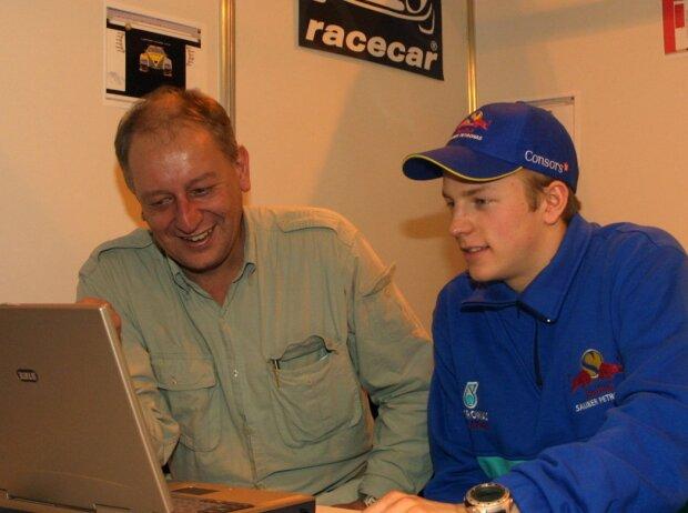 Dieter Rencken und Kimi Räikkönen im Jahr 2001