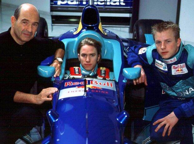 Peter Sauber, Nick Heidfeld, Kimi Räikkönen, 2001