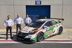 Rob Huff, Norbert Michelisz und Tiago Monteiro (Honda)