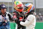 Esteban Gutierrez (Haas) und Fernando Alonso (McLaren)