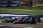 Sergio Perez (Force India), Carlos Sainz (Toro Rosso) und Stoffel Vandoorne (McLaren)