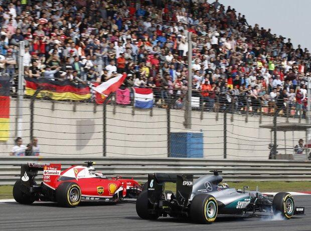 Lewis Hamilton, Kimi Räikkönen