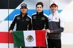 Sergio Perez, Alfonso Celis (Force India) und Esteban Gutierrez (Haas)