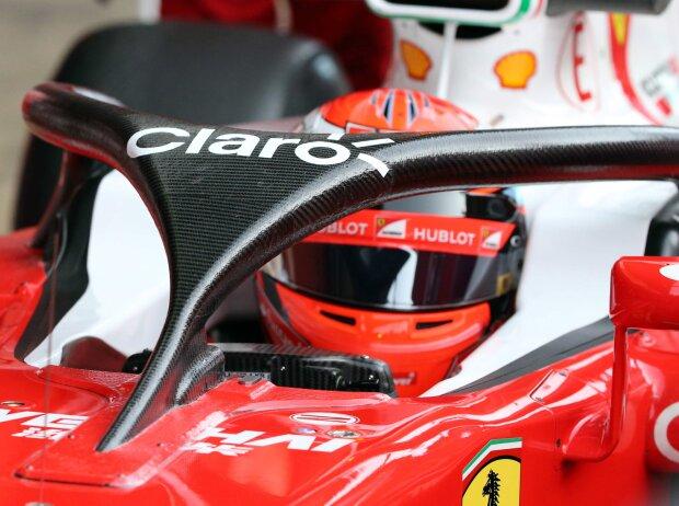 Halo-Cockpitschutz am Ferrari von Kimi Räikkönen