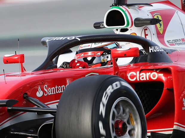 Kimi Räikkönen testet das
