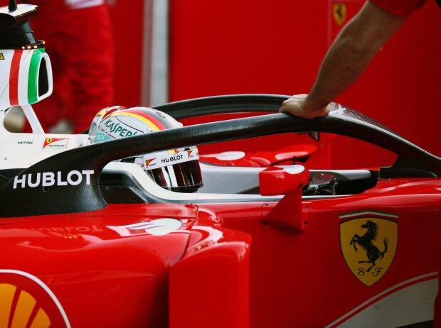Sebastian Vettel testet Halo