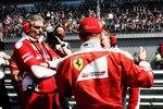 Maurizio Arrivabene und Kimi Räikkönen (Ferrari)
