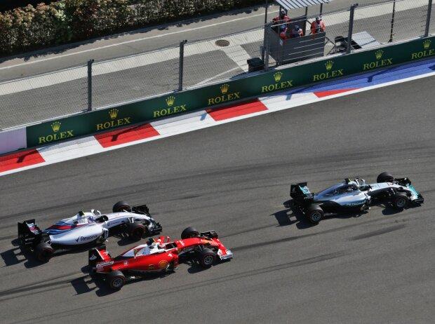 Nico Rosberg, Valtteri Bottas, Kimi Räikkönen