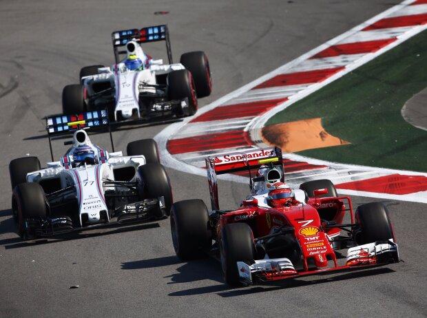 Kimi Räikkönen, Valtteri Bottas, Felipe Massa