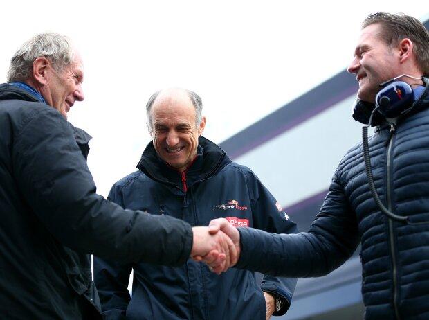 Helmut Marko, Franz Tost, Jos Verstappen