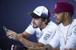 Lewis Hamilton (Mercedes) und Fernando Alonso (McLaren)
