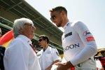 Bernie Ecclestone und Jenson Button (McLaren)