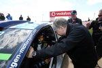 Jean Todt und Andreas Mikkelsen (Volkswagen)