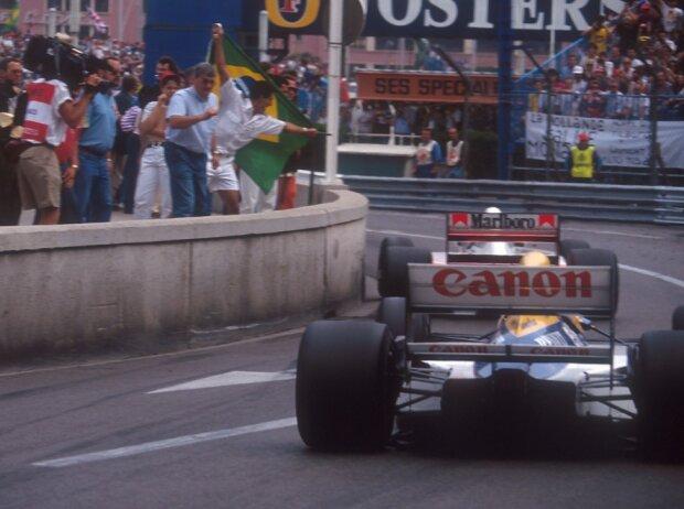 Nigel Mansell, Ayrton Senna
