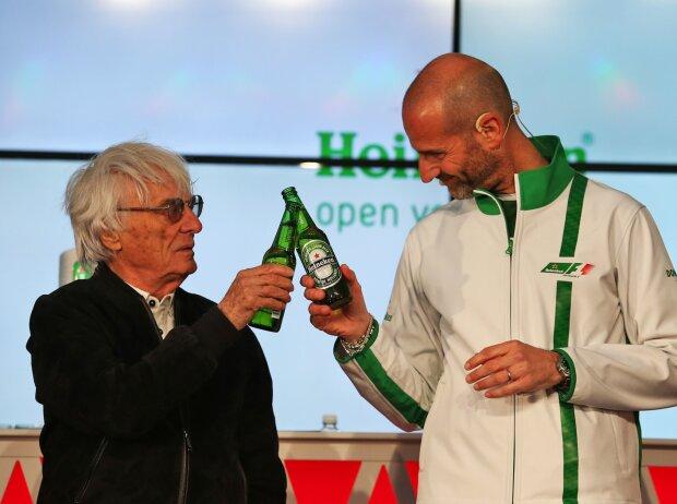 Bernie Ecclestone und Gianluca di Tondo von Heineken