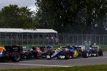 Carlos Sainz (Toro Rosso), Felipe Nasr (Sauber), Kevin Magnussen (Renault) und Marcus Ericsson (Sauber)
